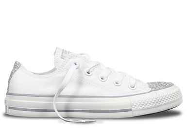 kupuję teraz kody kuponów oficjalny sklep Converse Chuck Taylor All Star Lo Top White Sparkle 545059F ...