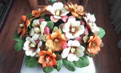 Kwiaty Z Krepiny 3869289856 Oficjalne Archiwum Allegro