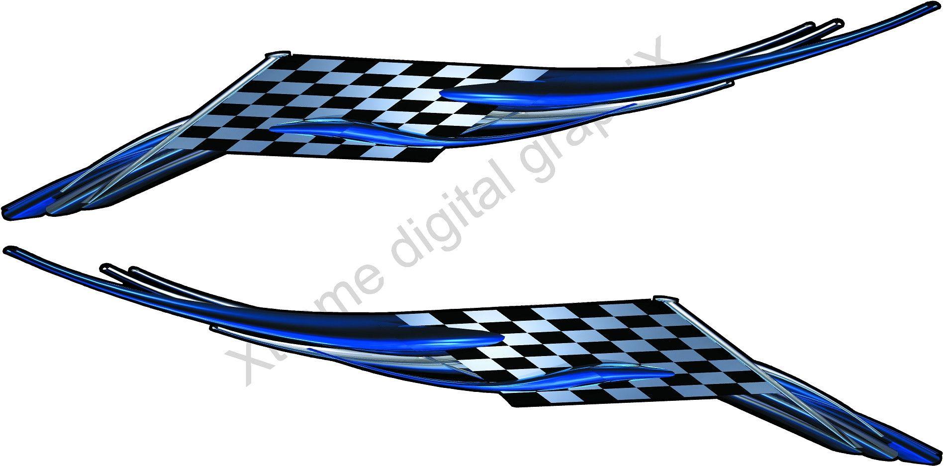 2pcs Sideskirt Race Decals Checkered Flag Vinyl Graphic Decal Car Decals Vinyl Car Graphics Decals Vinyl Graphics [ 1000 x 1000 Pixel ]