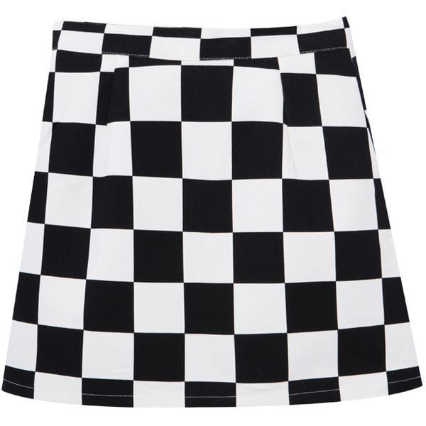 ac90d9215 Check Zip-Front Mini Skirt ($38) ❤ liked on Polyvore featuring skirts, mini  skirts, checkered mini skirt, checkered skirt, short skirts, high rise  skirts ...