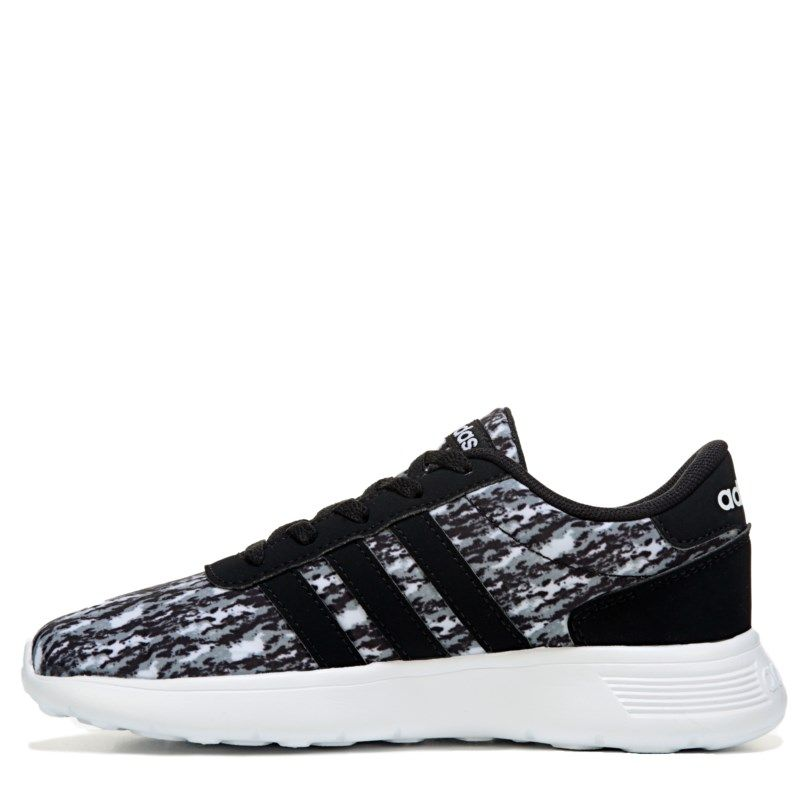 pretty nice 944f6 95441 Adidas Kids Lite Racer K Running Shoe PreGrade School Shoes (BlackWhite)  - 1.5 M