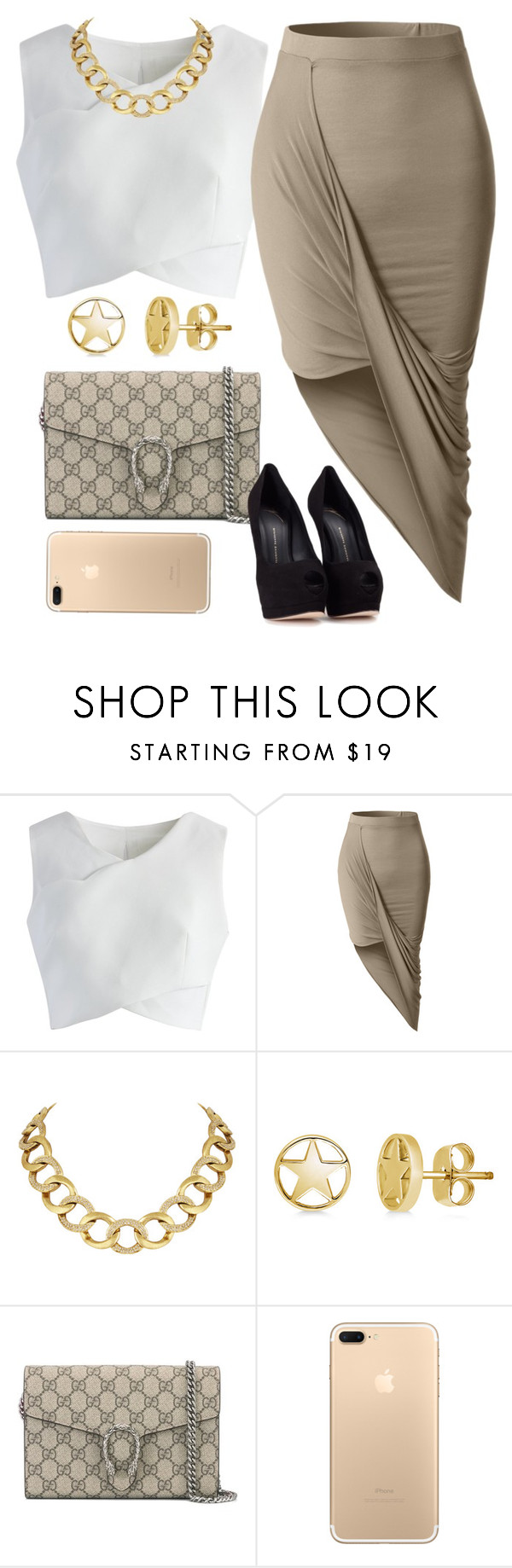 """""""Sans titre #16"""" by kabengeleleslie on Polyvore featuring mode, Chicwish, LE3NO, House of Harlow 1960, BERRICLE, Gucci et Giuseppe Zanotti"""