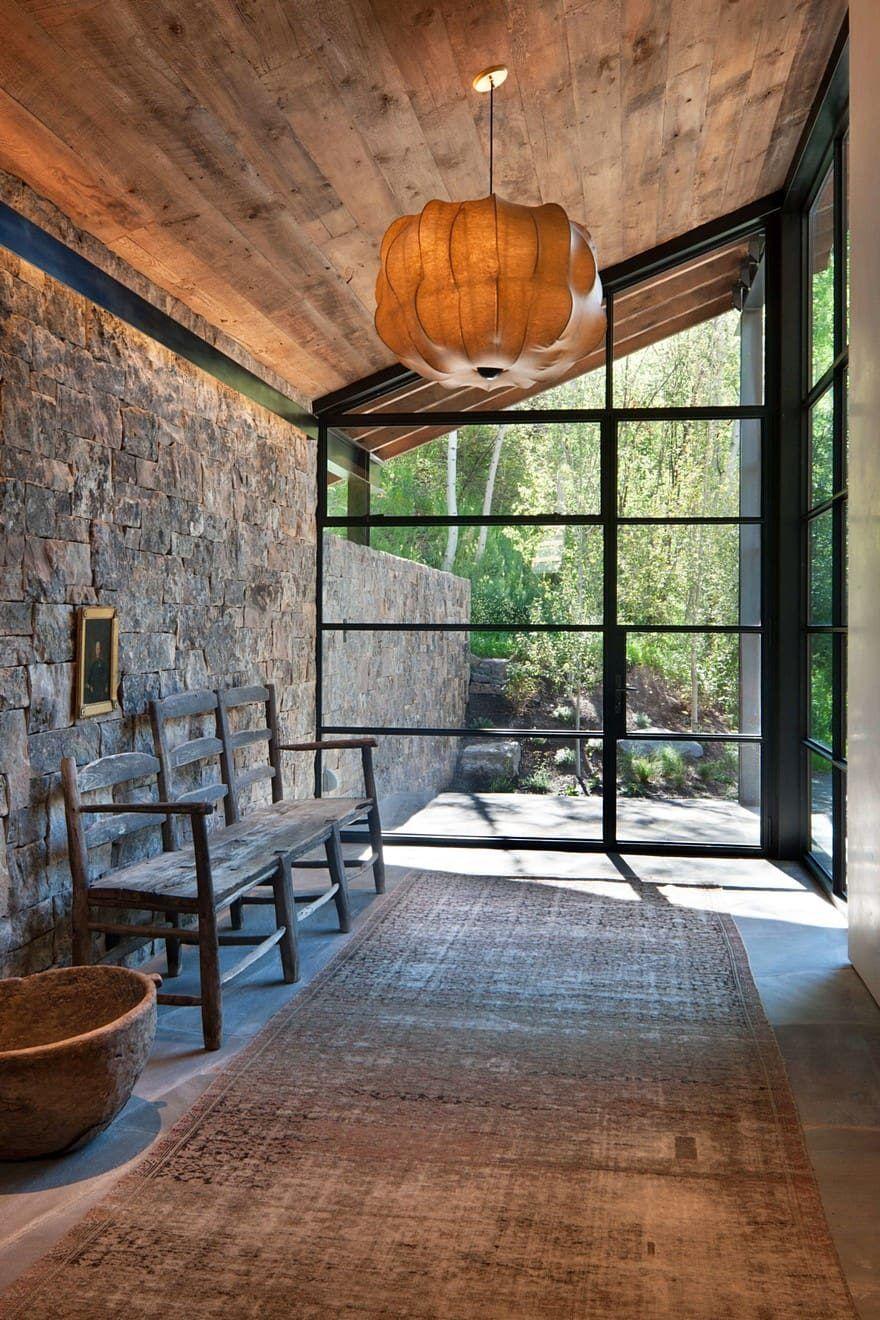 Aspen artist house miller architects interior design for Cobertizo de madera de jardin contemporaneo