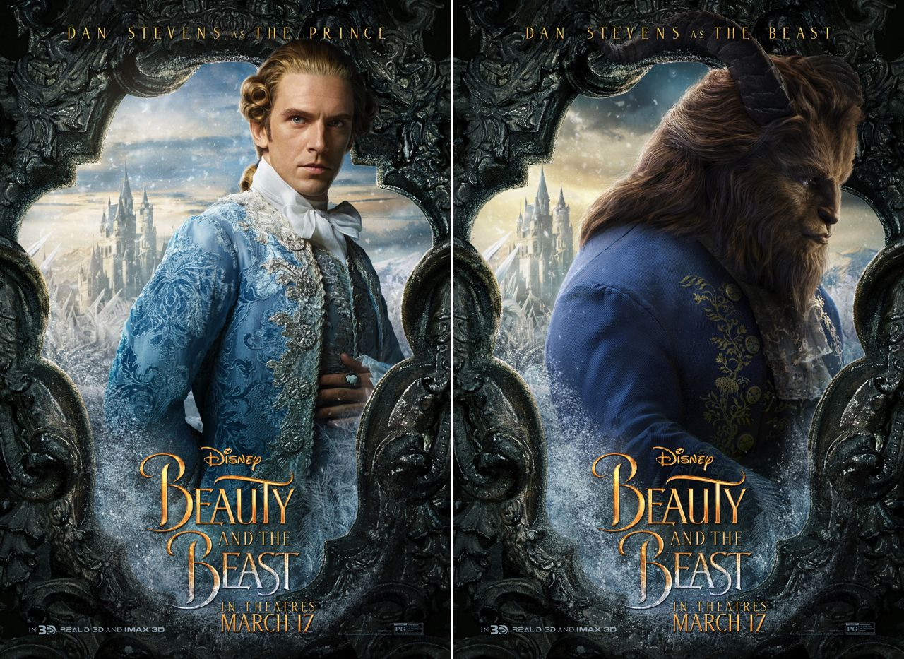 Beauty And The Beast Posters Highlight Lumiere Cogsworth Of Course Emma Watsons Belle