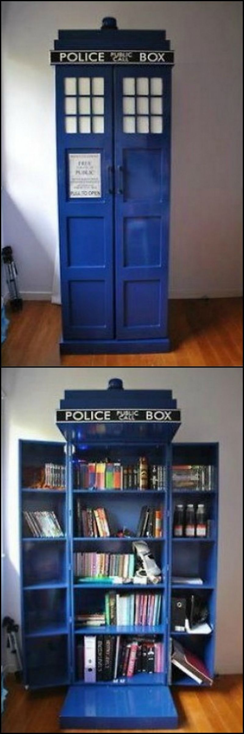 How To Build A Tardis Bookshelf Is It Or