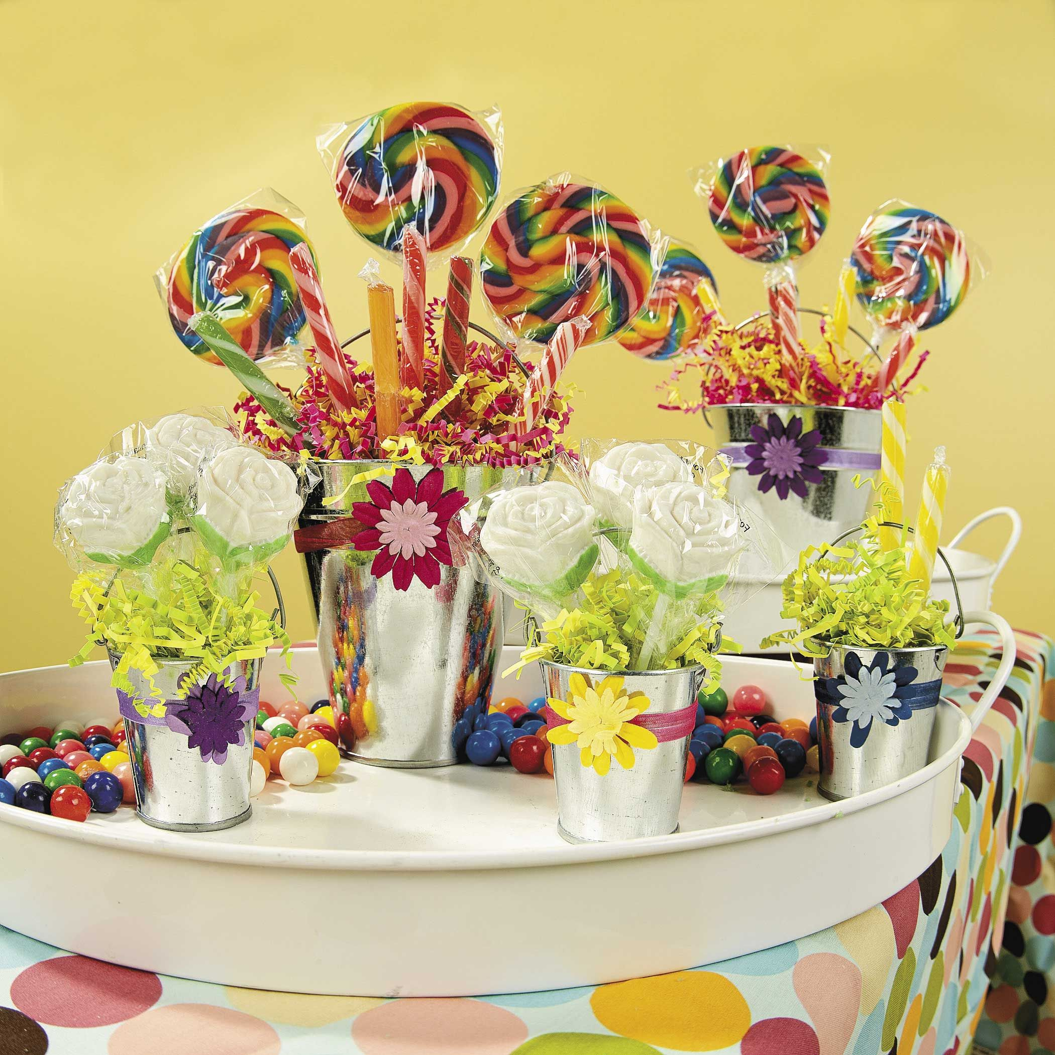 Birthday Party Buffet Table: Create These Lovely Candy Buffet Buckets For Your Special
