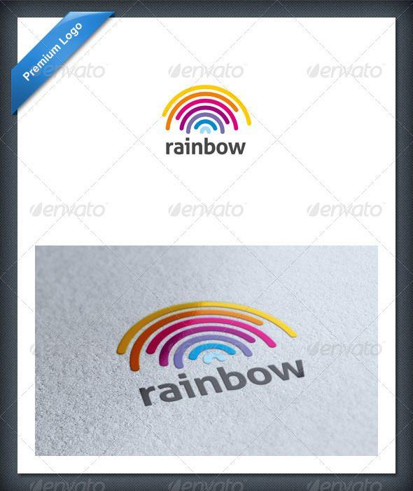 Rainbow Logo Template Logo templates, Logos and Template - rainbow template