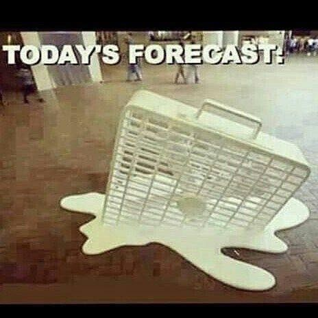 It S Hot Out Meanwhile In Iowa Todays Forecast Fan Box Fan