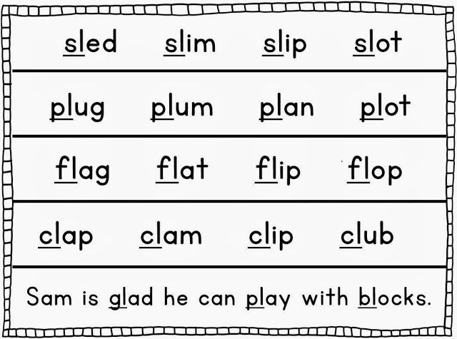 Blending Practice Pages  Word Work Activities Word Work And