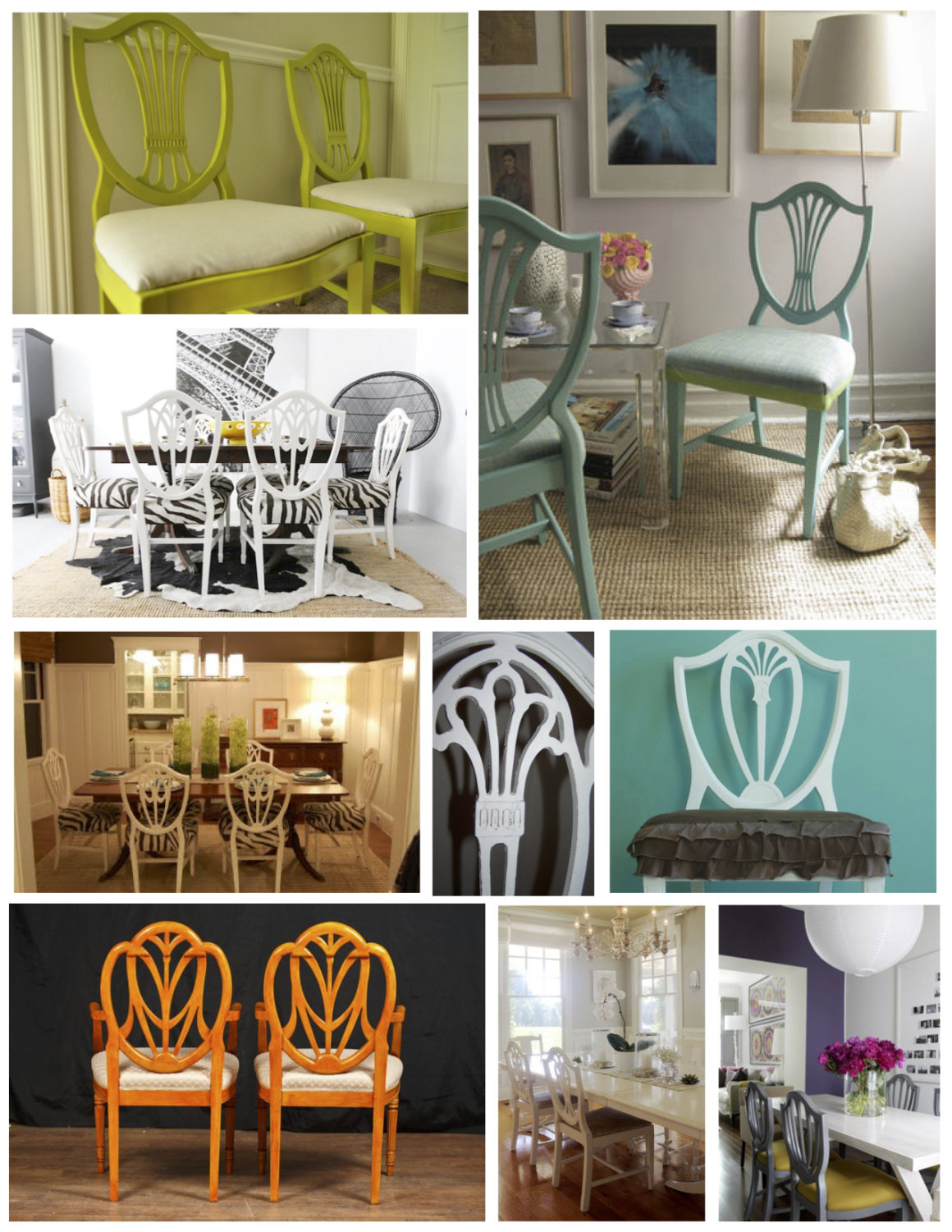 Painted Style Of The Shield Back Design Painted Dining Chairs White Furniture Sets Furniture