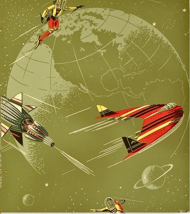 50s Atomic Rocket Wallpaper