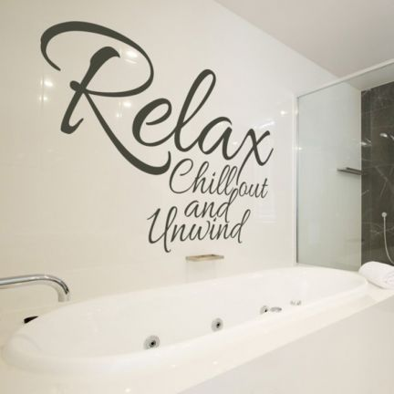 My Wall Relax Chill Out Grey Wall Decal Add Oodles Of Style To - How to put a decal on my wall