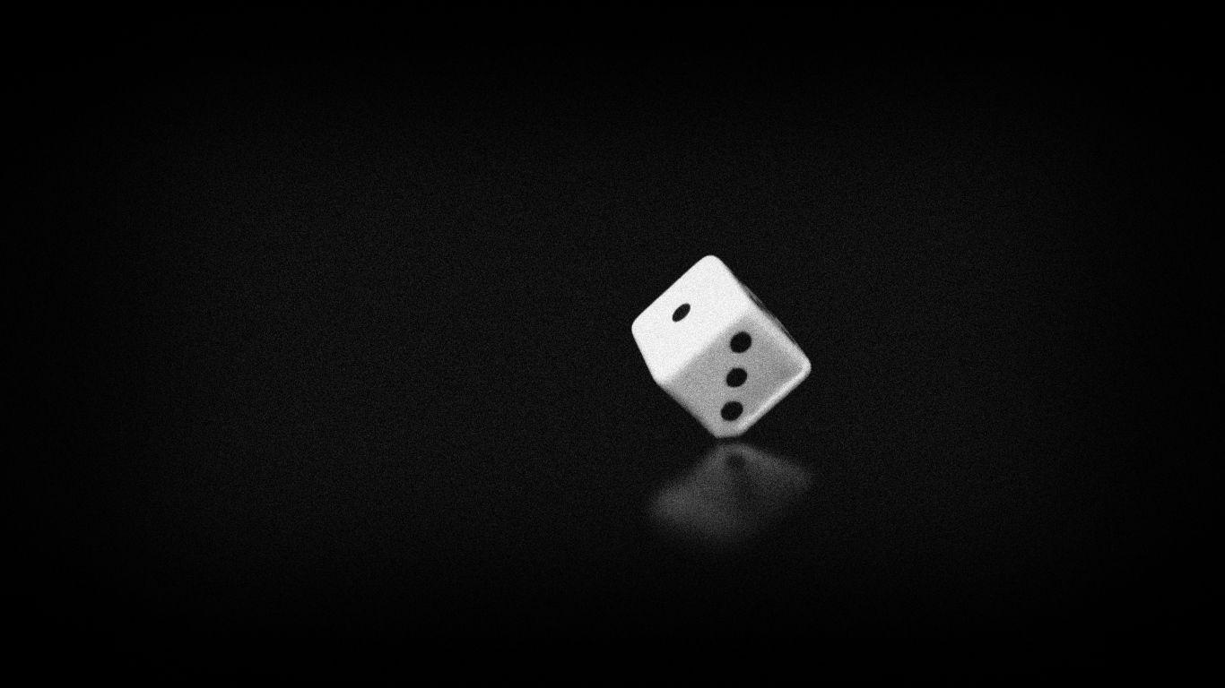 1366x768 Wallpaper Black Black White Bone Time Game Noise In