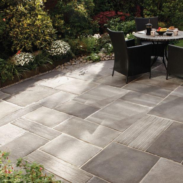 patio slab ideas picturesque patio paving cloisters traditional garden paving slabs - Patio Slab Ideas