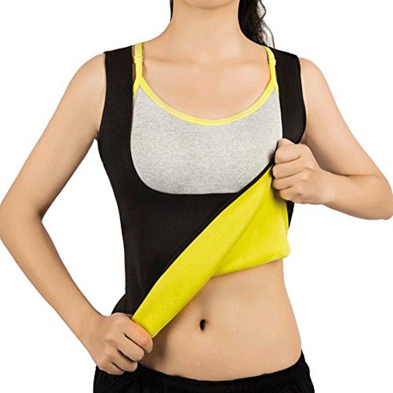 2349ae12e8 Women Hot Sweat Vest Neoprene Sauna Vest For Weight Loss Tummy Fat Burner  Slimming Shapewear Hot Thermo Body Shaper Sweat Tank Top Black No Zip     You can ...