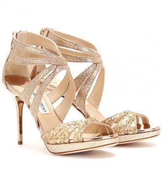 3132794120b3 ShopStyle: Jimmy Choo GRETA GLITTER PLATFORM SANDALS | W | Shoes ...