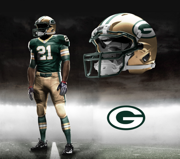 Green Bay Packers Nike NFL Pro Combat Uniform  23fc89ba3