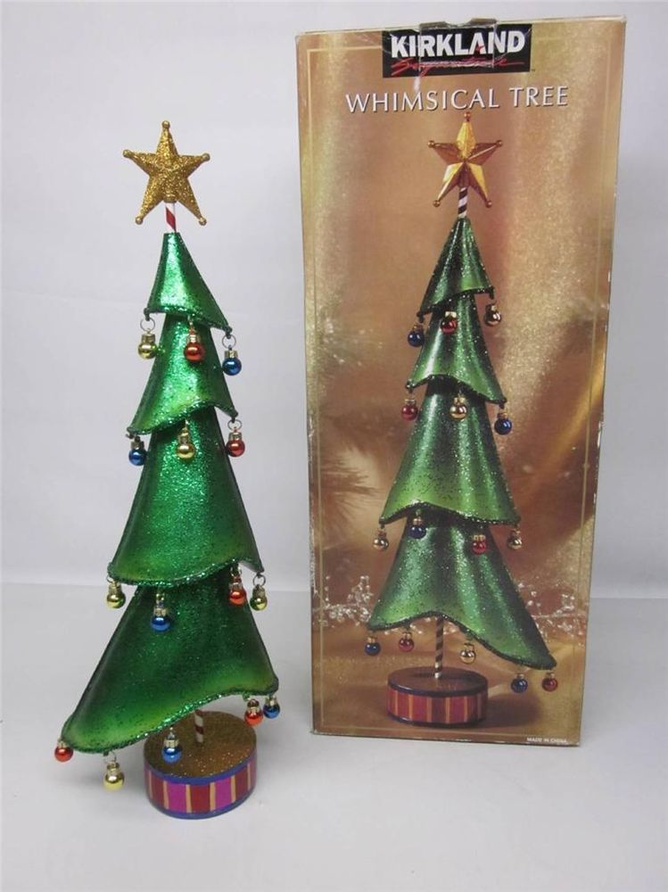 WHIMSICAL CHRISTMAS TREE W/ ORNAMENTS DECORATION~KIRKLAND SIGNATURE ...