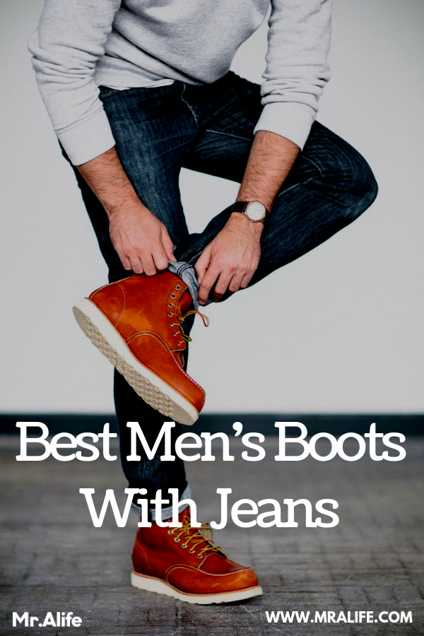 Boots and jeans men