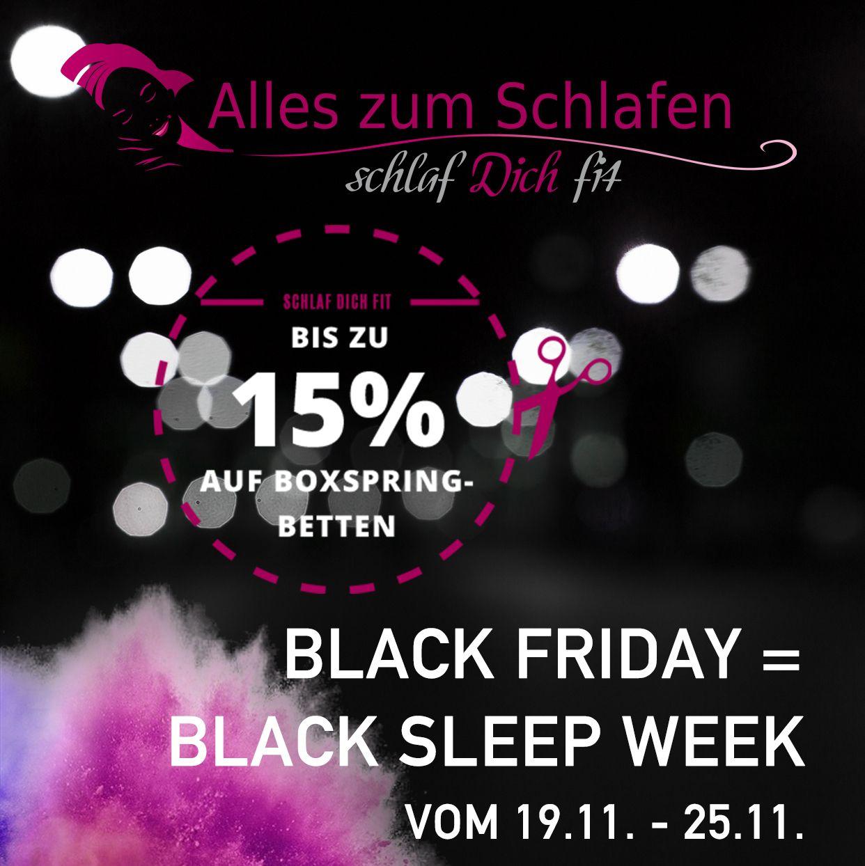 BLACK SLEEP WEEK SALE VOM 19.11.-25.11.2018 - Bis zu 15 ...