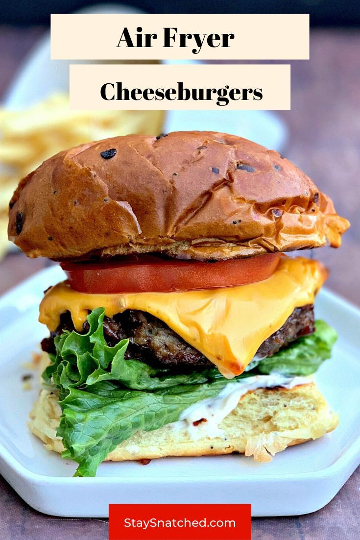 Quick and Easy Juicy Air Fryer Cheeseburgers in 2020 Air