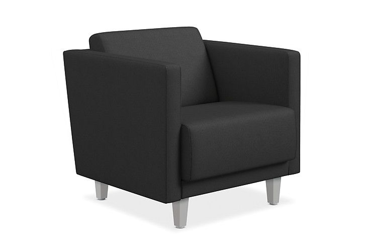 Sensational Hon Grove Lounge Chair Black Straight Arms Front Side View Creativecarmelina Interior Chair Design Creativecarmelinacom