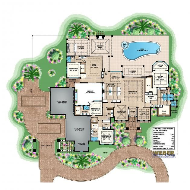 Mediterranean House Plan Luxury Mediterranean Home Floor Plan