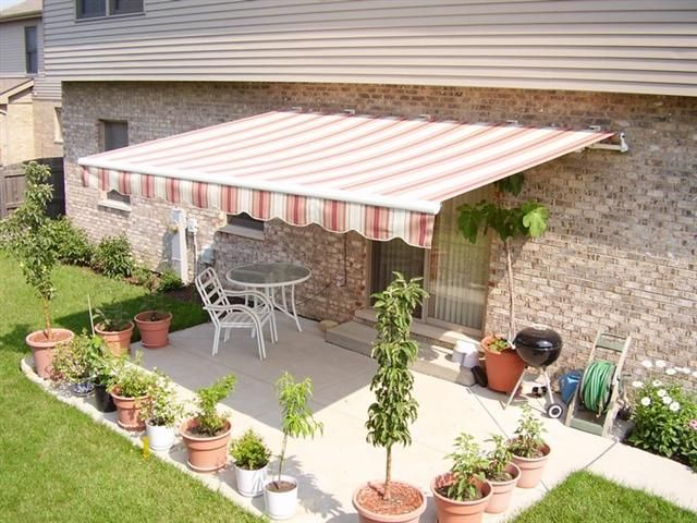Small Patio Awning Awning over back patio | Outdoor ...