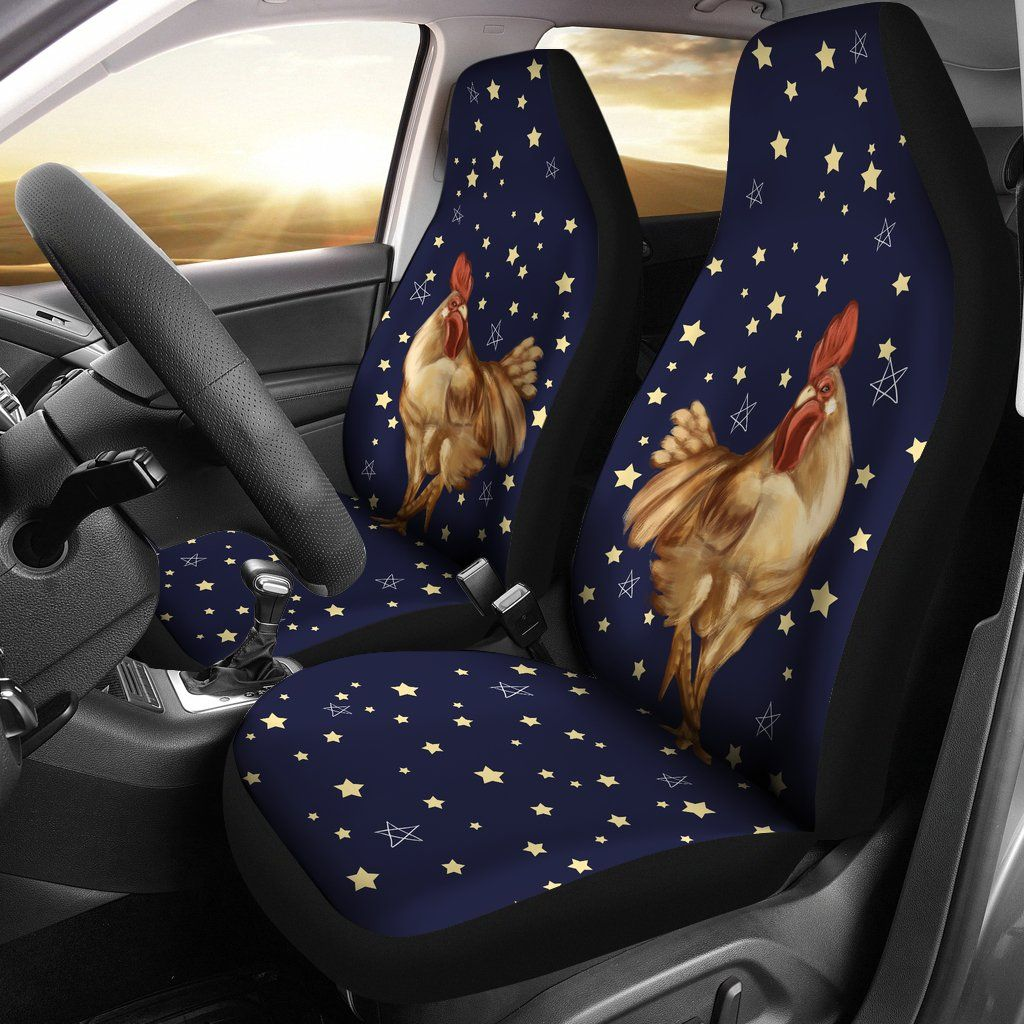 Chicken And Stars Car Seat Covers Custom Car Seat Covers Car