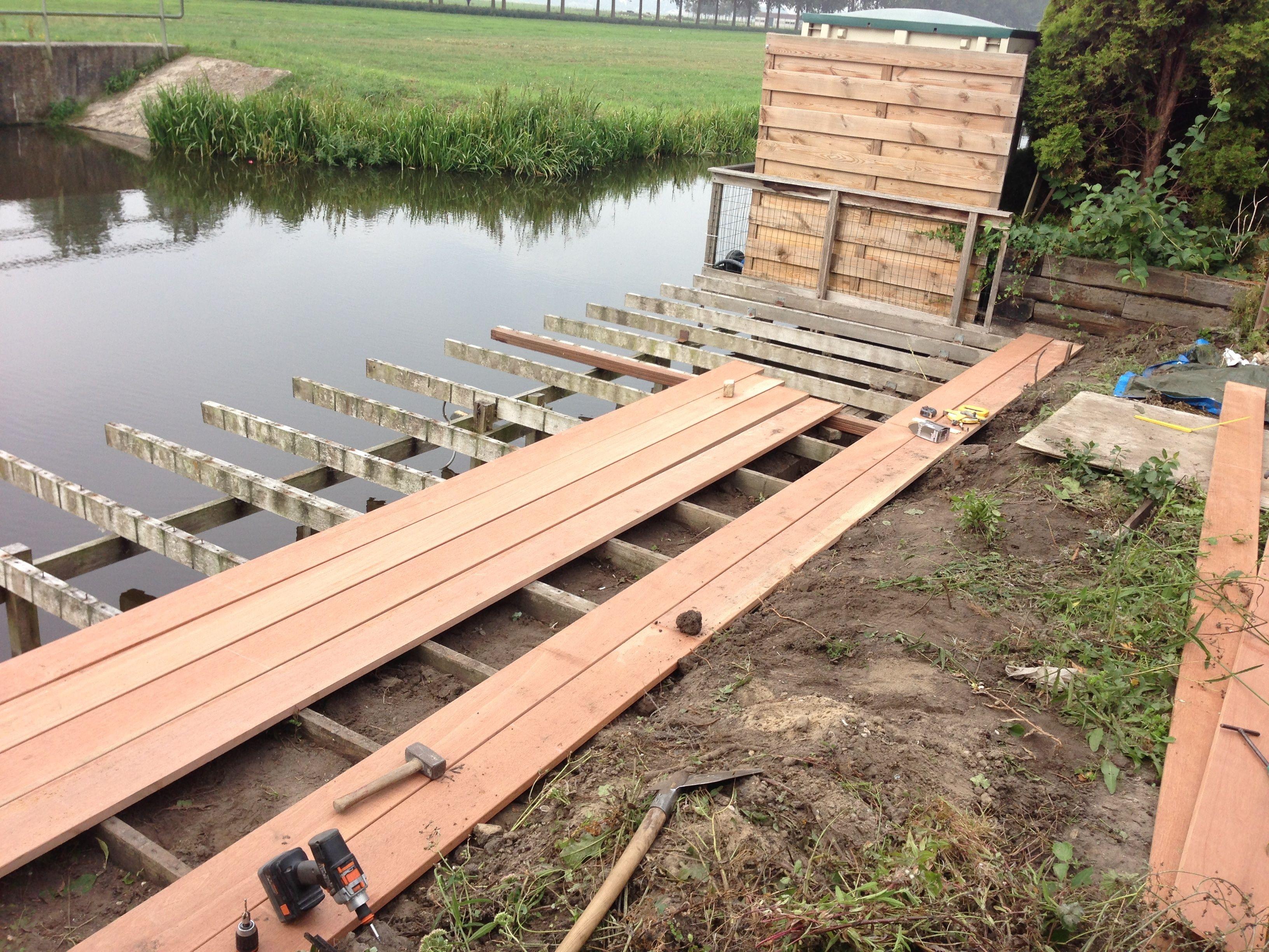 Vlonder hout en tegels google zoeken tuin pinterest searching - Houten terras en tegels ...