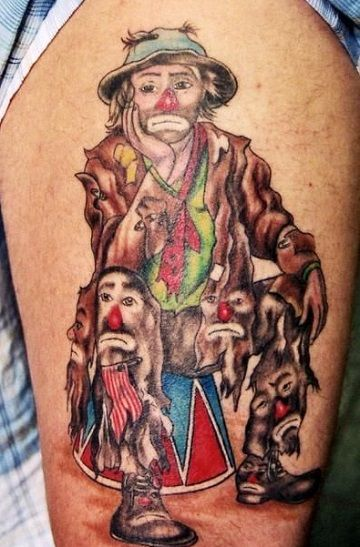 Profundos Y Simbolicos Tatuajes De Payasos Llorando Tatuajes En El