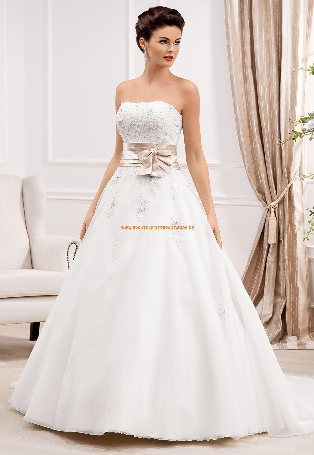 A-linie Designe Trägerlose Hochzeitskleider aus Organza  Wedding