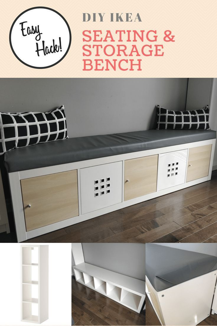 IKEA Kallax Hack Turn the bookshelf into a bench with storage DIY