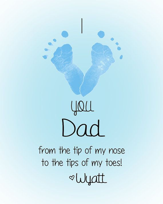 Awesome Father To Be Gifts From Baby Part - 9: Personalized Baby Footprint Art Print - I Love You Daddy - Great Gift For  Fatheru0027s Day