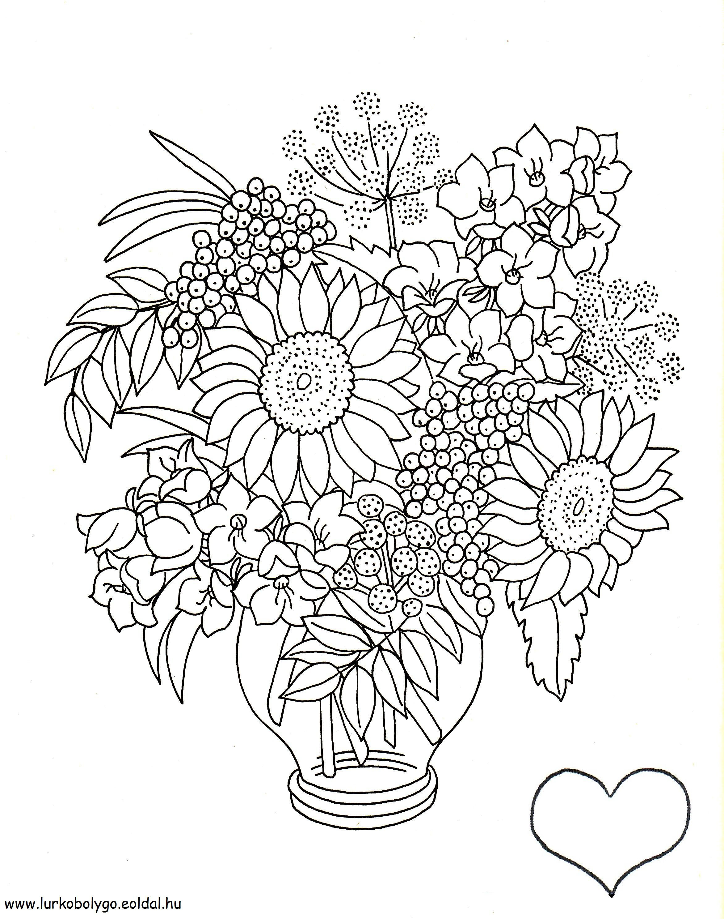 Ausmalbilder Erwachsene Blumen : Viragcsokor Jpg 2344 2972 Sz Nez K Sablonok Oktat S Pinterest