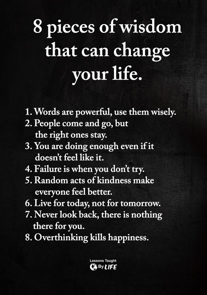 8 pieces of wisdom that can change your life. | Wisdom ...