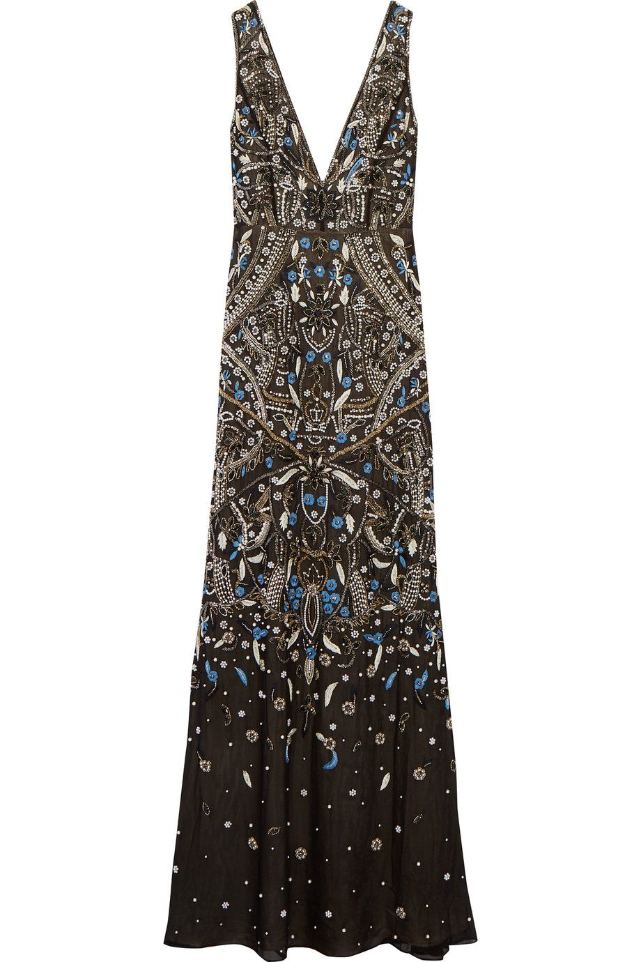 Alice and olivia marnee embellished silk georgette gown alice and olivia marnee embellished silk georgette gown aliceandolivia cloth gown ombrellifo Images