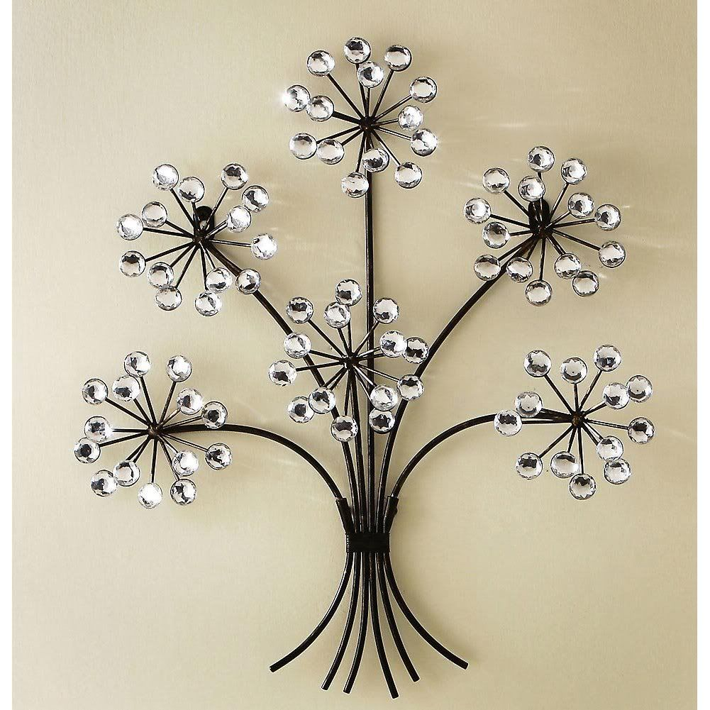 Acrylic Crystal Antiqued Metal Tree Wall Decor Art By Collections Etc Decorating Items For House