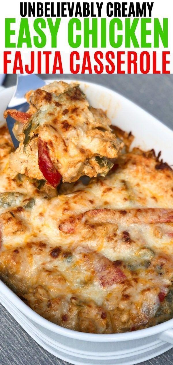 Huhn Fajita Auflauf Rezept | Dieses Rezept ist Keto, Low Carb, THM. Gemacht mit …   – Dinner