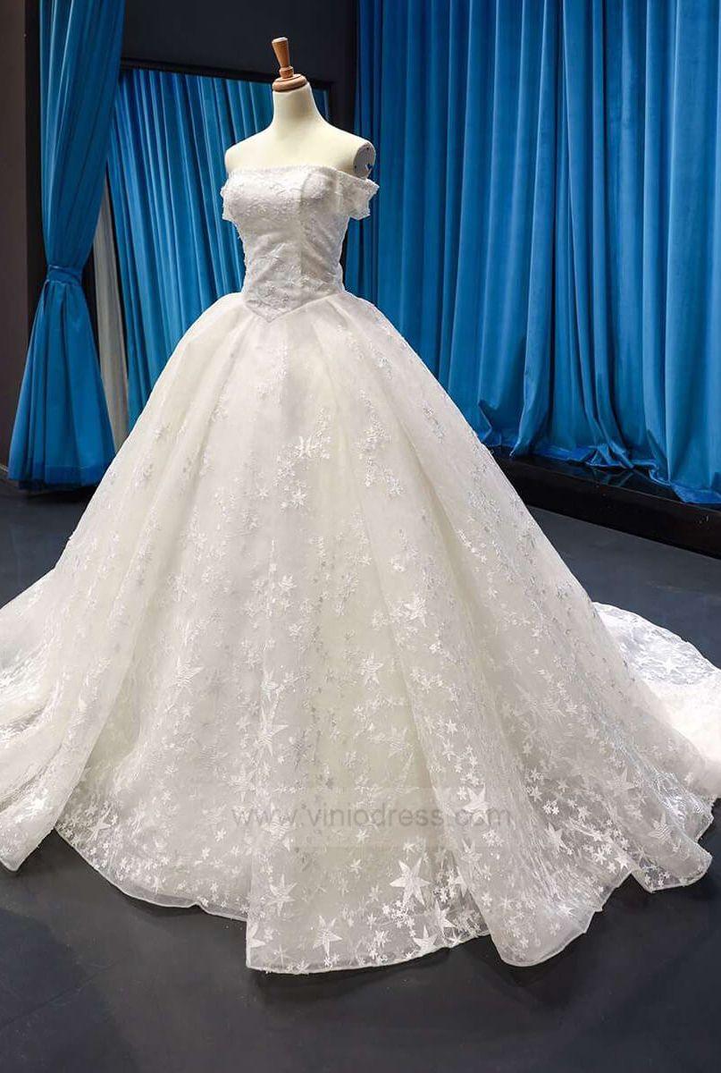 Vintage Ball Gown Wedding Dresses Off The Shoulder Bridal Dress