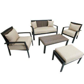 Amazon Com Rst Outdoor Op Aldss5 Zen Deep Seating Set Patio