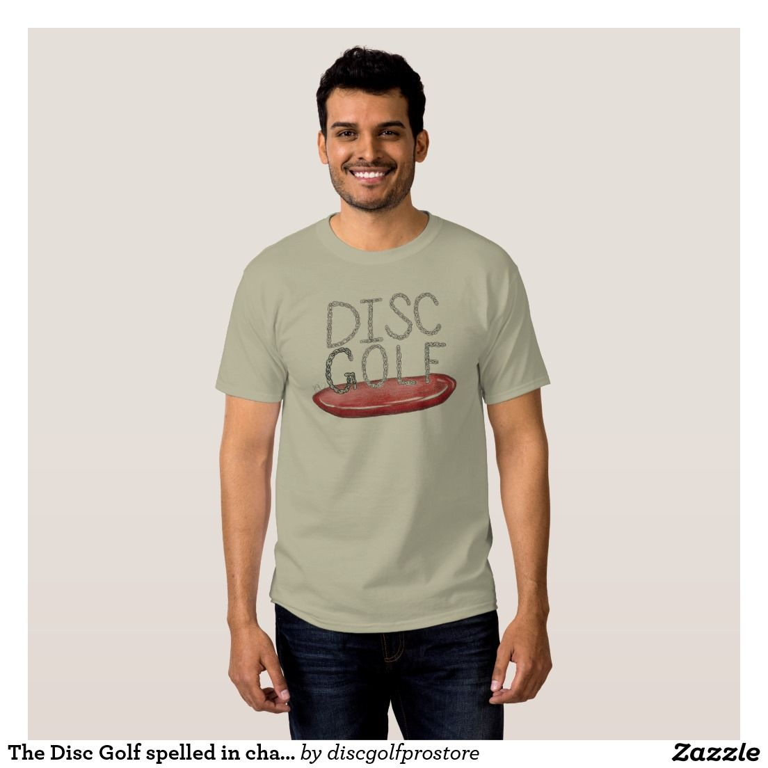 9f433f5f9d3bb The Disc Golf spelled in chains t-shirt | Zazzle.com | I ♥ Disc ...
