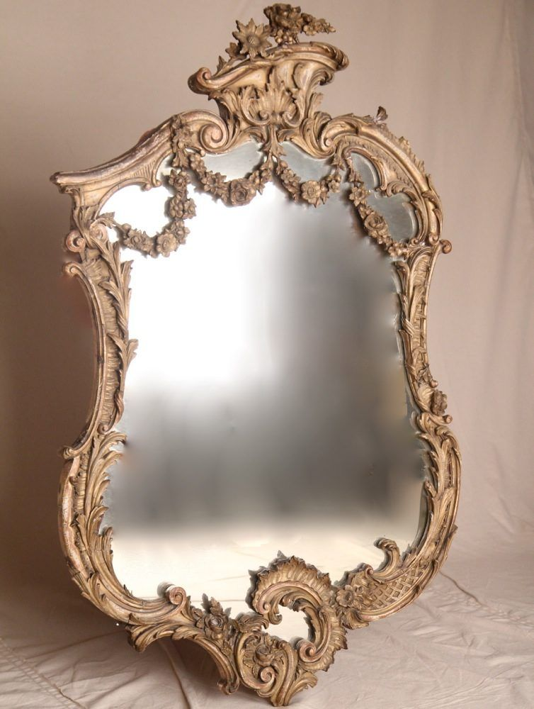 French Louis Xv Style Rococo Revival Wall Mirror C 1880