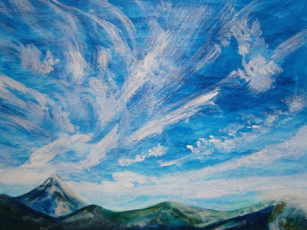 RELAX画「青い空と白い雲のコラボ」[藤岡 充] | ART-Meter