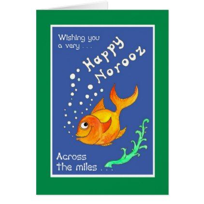 Norooz Goldfish, \'Across the Miles\' Greeting Card