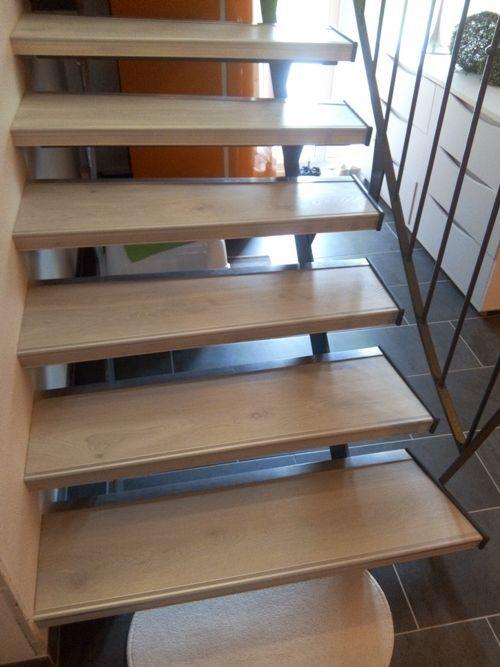 habillage escalier m tallique sans contre marche kembs. Black Bedroom Furniture Sets. Home Design Ideas