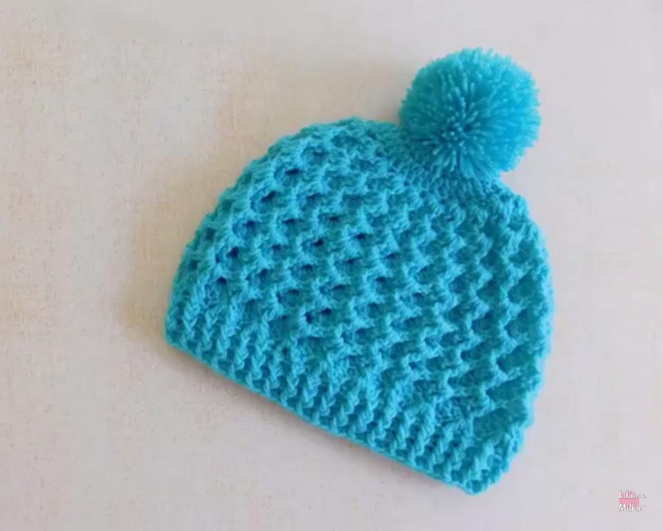 f6821e695 Waffle Stitch Beanie Hat Tutorial | Free Crochet Women's Hat ...