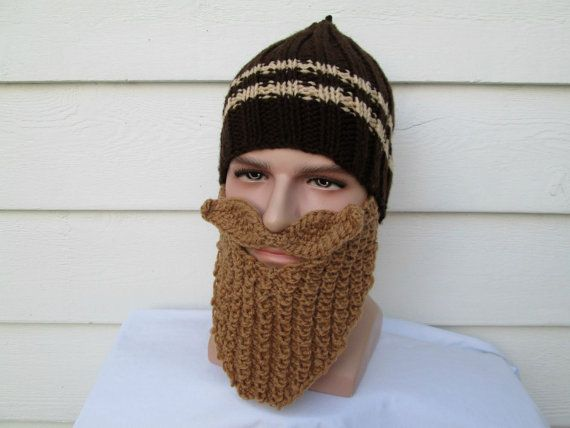 Knit Viking Hat With Beard