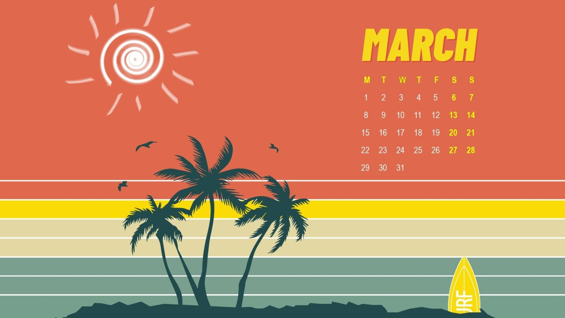 March 2021 Desktop Calendar March 2021 HD calendar wallpaper free download in high definition