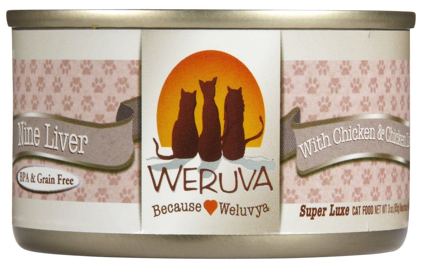 Weruva Canned Cat Nine Liver Cat 3 oz Case 24 *** New and